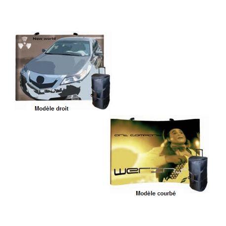 Murs promotionnels modèle droit ou courbé - Magnétique