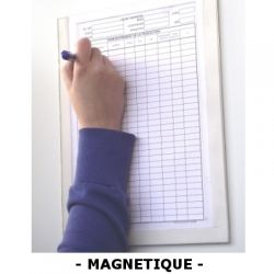 Modèle magnétique ouvert à glissière avec fond - Porte-documentation