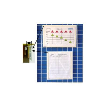 Plexidoc glissière à suspendre avec avec fond - Porte-documentation
