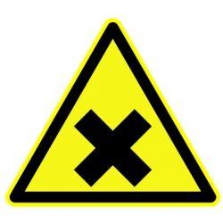 """Panneau Danger triangulaire """"Matières nocives"""""""