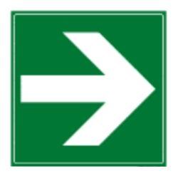 Flèche directionnelle droite