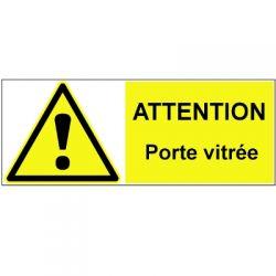 ATTENTION porte vitrée - Signalétique adhésive