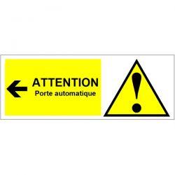 ATTENTION porte automatique - Signalétique adhésive