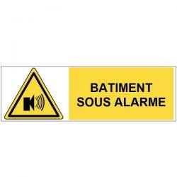 Bâtiment sous alarme - Signalétique adhésive