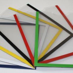 Porte-document adhésif glissière sans fond