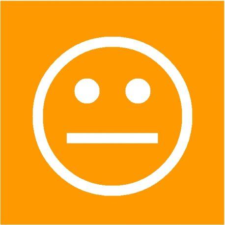 Smiley Orange magnétique simple face