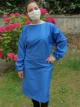 Sur-blouse lavable unie bleue foncée